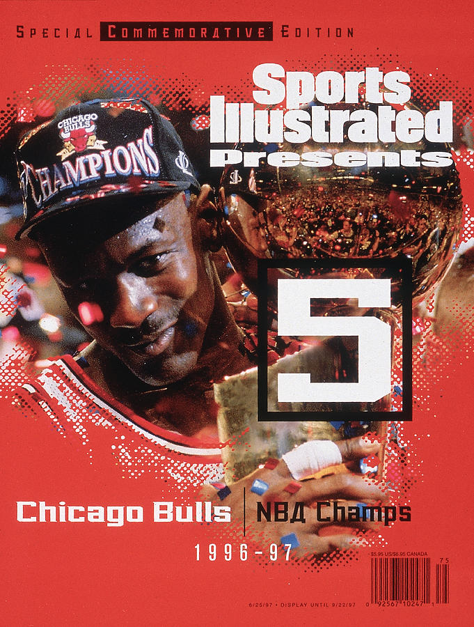 Chicago Bulls Michael Jordan, 1997 Nba Champions Sports Illustrated Cover Photograph by Sports Illustrated