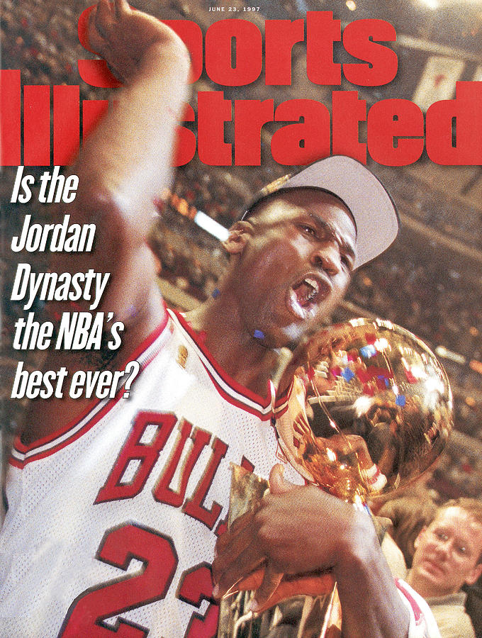 Chicago Bulls Michael Jordan, 1997 Nba Finals Sports Illustrated Cover Photograph by Sports Illustrated
