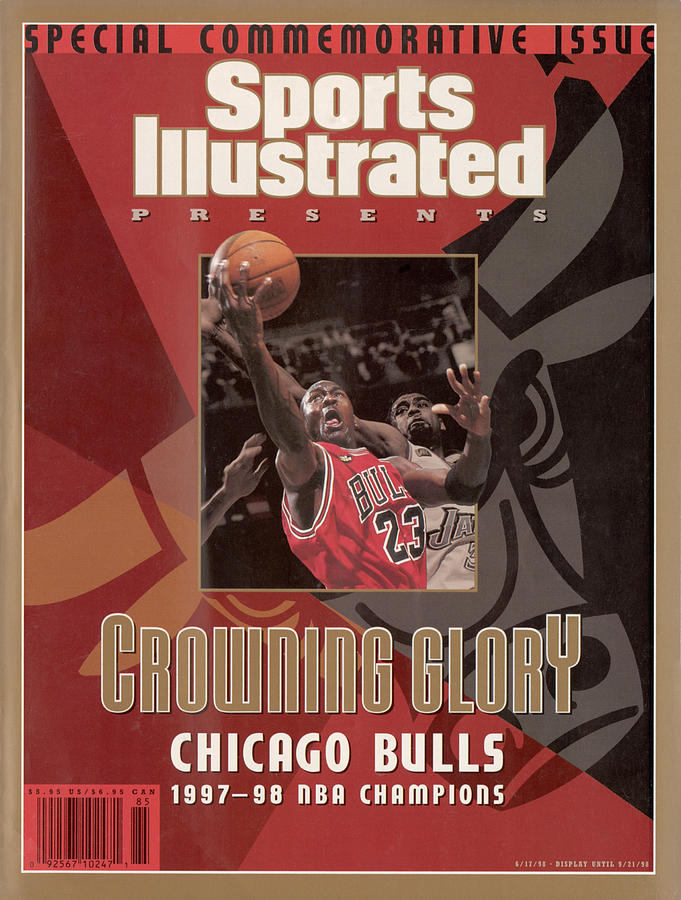 Chicago Bulls Michael Jordan, 1998 Nba Champions Sports Illustrated Cover Photograph by Sports Illustrated