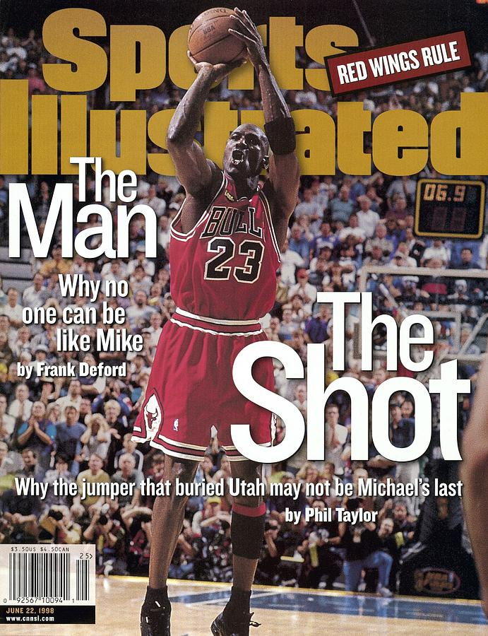 Chicago Bulls Michael Jordan, 1998 Nba Finals Sports Illustrated Cover Photograph by Sports Illustrated