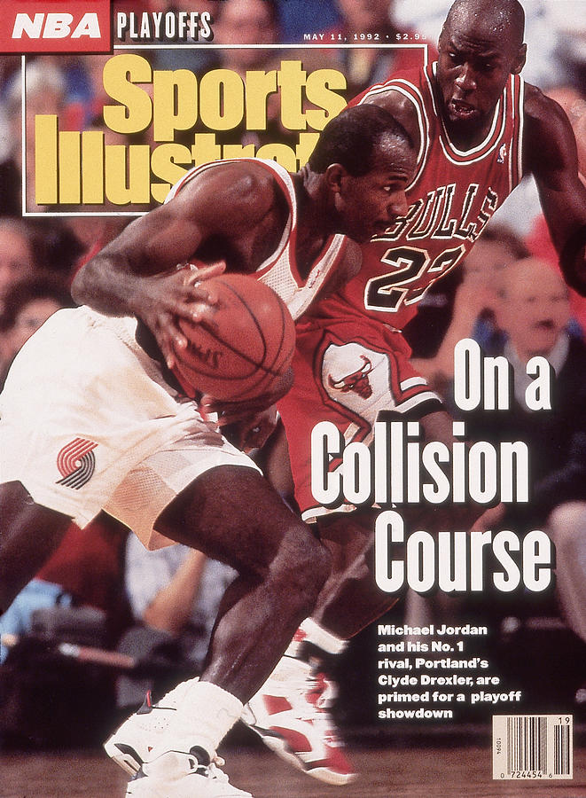 Chicago Bulls Michael Jordan And Portland Trail Blazers Sports Illustrated Cover Photograph by Sports Illustrated