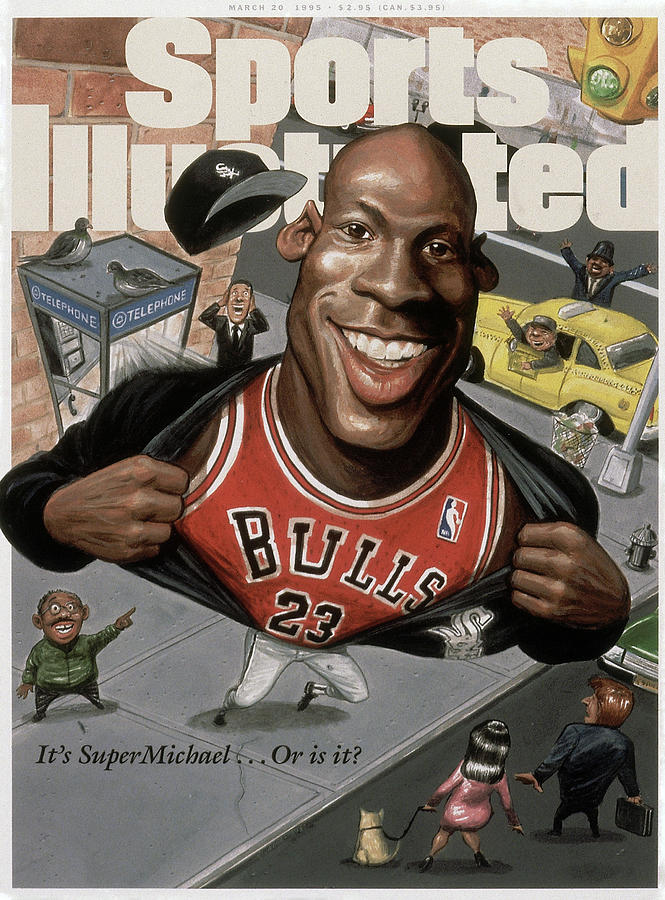 Chicago Bulls Michael Jordan Its Supermichael . . . Or Is It Sports Illustrated Cover Photograph by Sports Illustrated