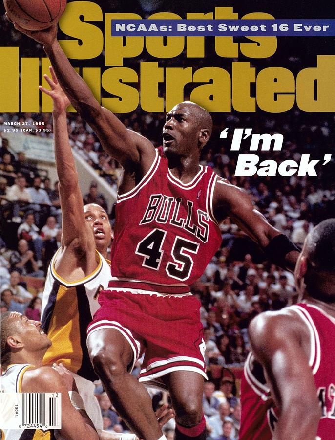 Chicago Bulls Michael Jordan... Sports Illustrated Cover Photograph by Sports Illustrated