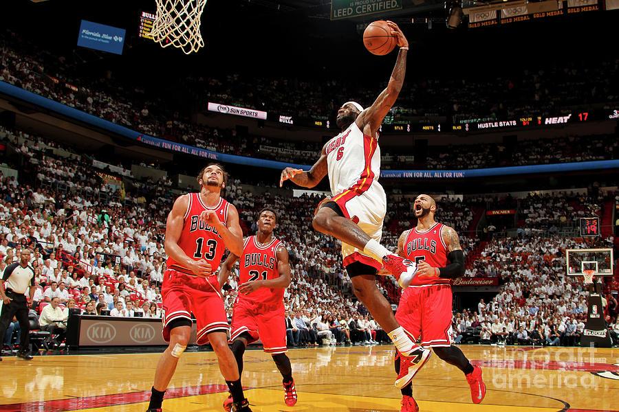 Chicago Bulls Vs Miami Heat - Game Two Photograph by Issac Baldizon