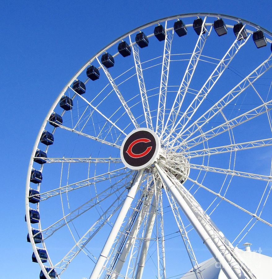 Navy Pier Photograph - Chicago Centennial Ferris Wheel 2 by Robert Knight