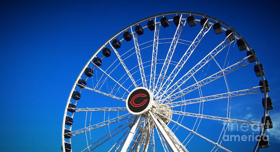Navy Pier Photograph - Chicago Centennial Ferris Wheel by Robert Knight