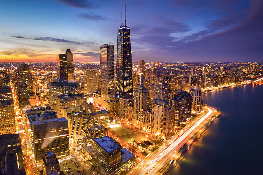 Chicago Photograph - Chicago! Chicago! by Michael Zheng