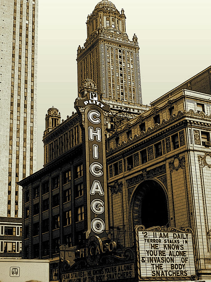 CHICAGO Cinema Theater - Vintage Photo Art by Peter Potter