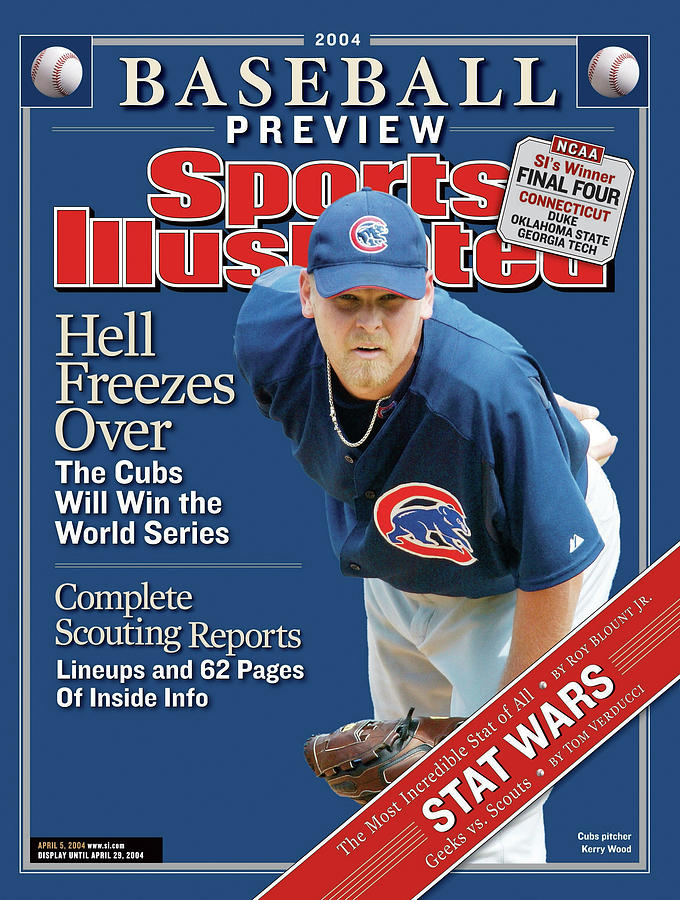 Chicago Cubs Kerry Wood, 2004 Mlb Baseball Preview Issue Sports Illustrated Cover Photograph by Sports Illustrated