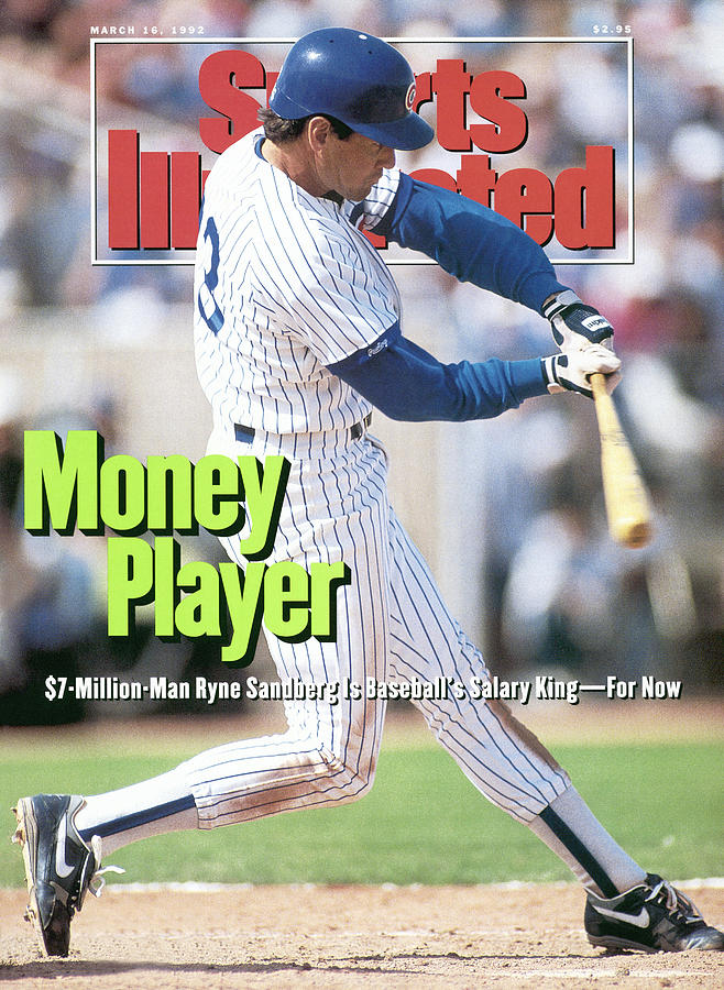 Chicago Cubs Ryne Sandberg... Sports Illustrated Cover Photograph by Sports Illustrated