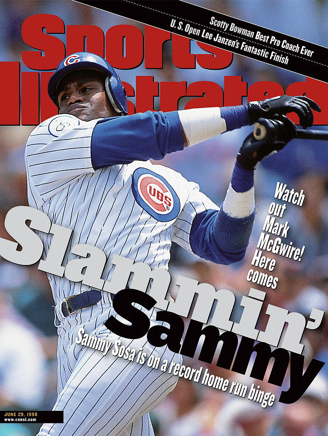 Chicago Cubs Sammy Sosa... Sports Illustrated Cover Photograph by Sports Illustrated