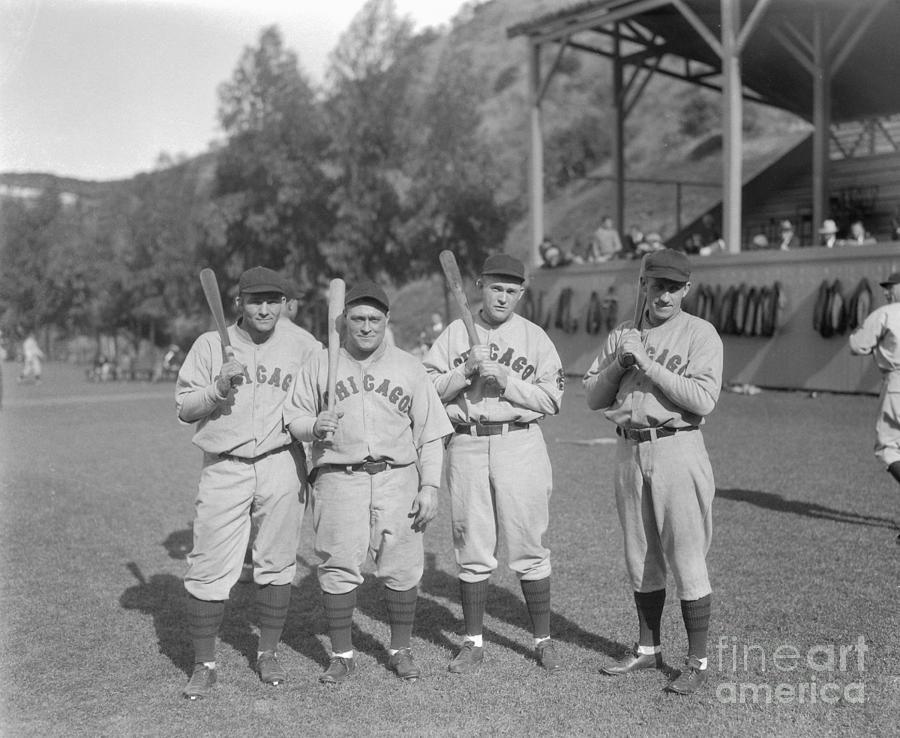 Chicago Cubs Teammates Posing Photograph by Bettmann