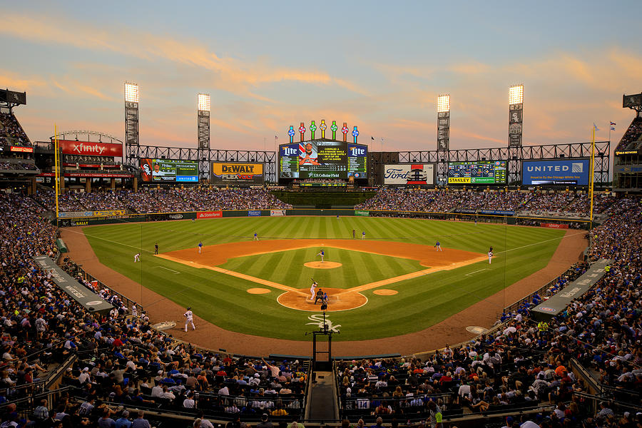 Chicago Cubs V Chicago White Sox Photograph by Ron Vesely