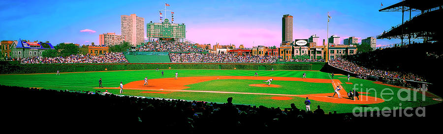 Chicago Cubs Wrigley Field  third and home   by Tom Jelen