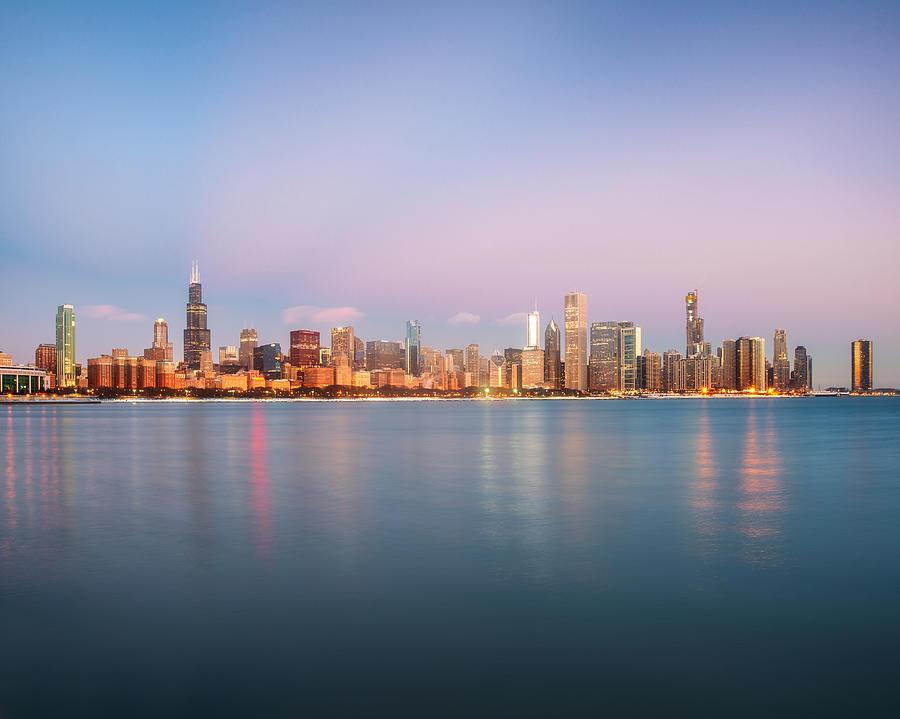 Chicago December Twilight by Matt Hammerstein