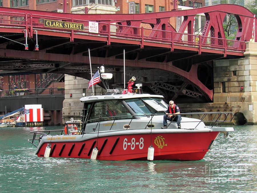 Chicago Fire Department Under the Clark Street Bridge by Roberta Byram