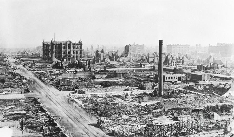 Chicago Fire Of 1871 Photograph by Bettmann