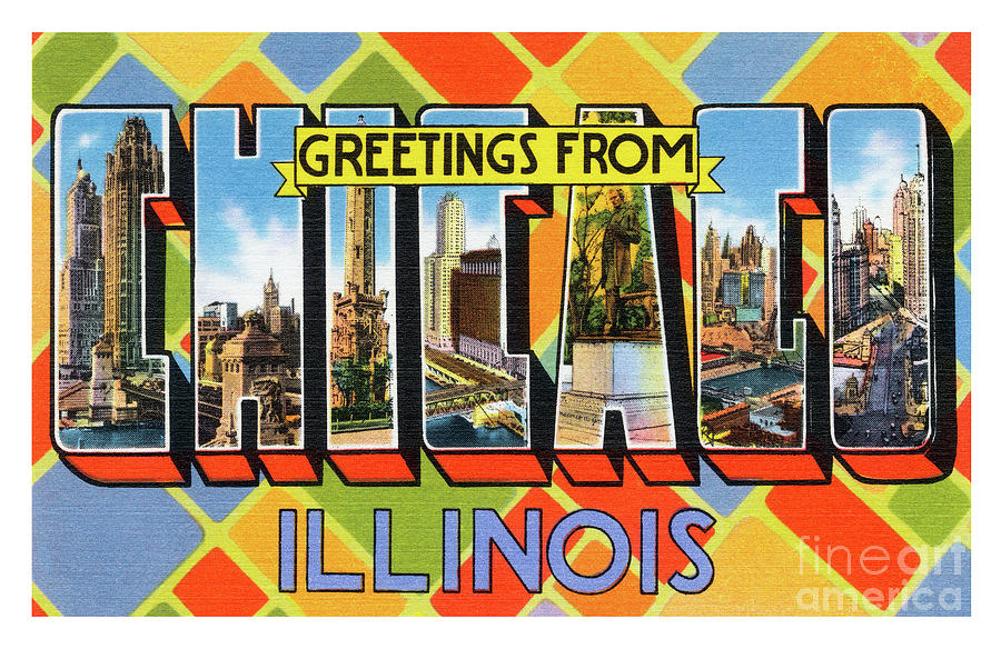 Chicago Greetings - Version 1 by Mark Miller