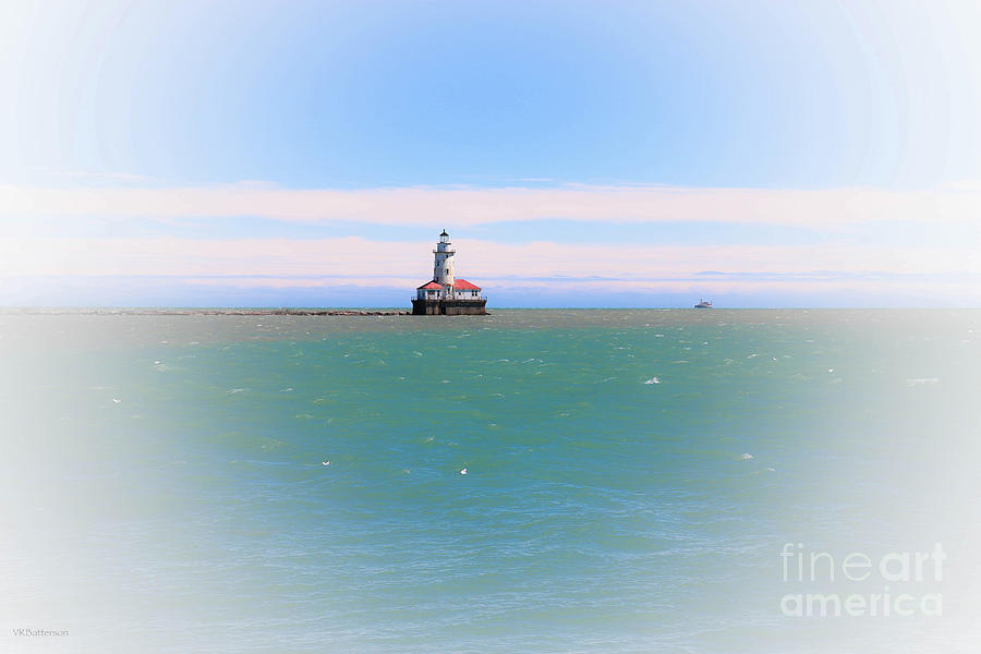 Chicago Harbor Lighthouse II by Veronica Batterson