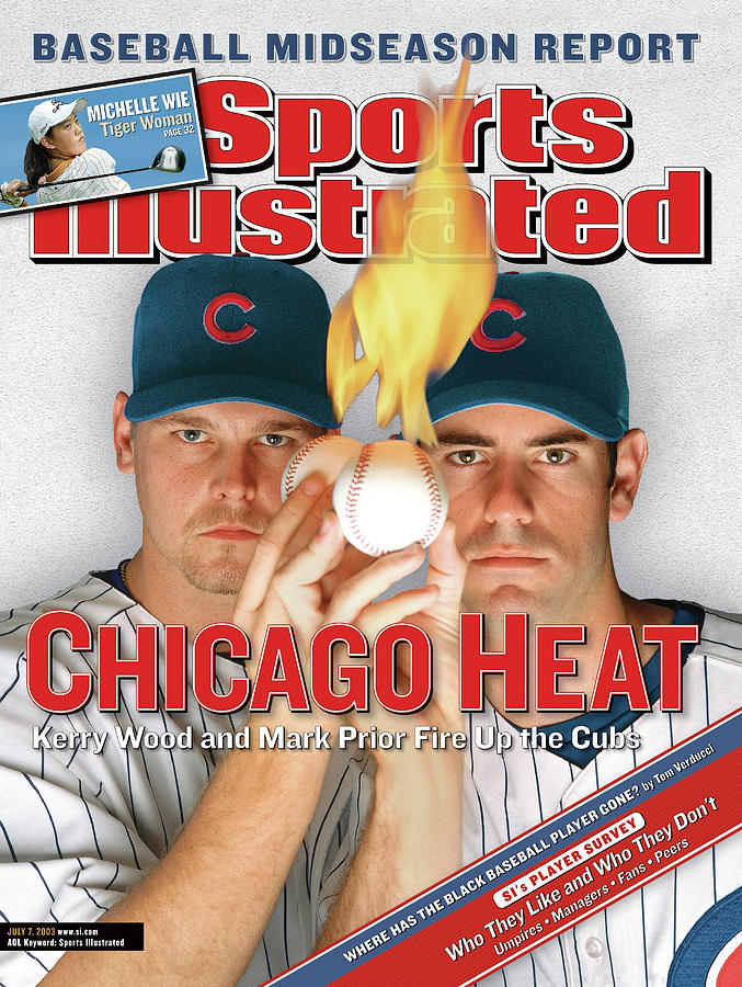 Chicago Heat Kerry Wood And Mark Prior Fire Up The Cubs Sports Illustrated Cover Photograph by Sports Illustrated