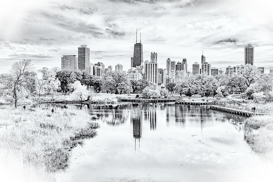 Chicago in Black and White by Lev Kaytsner