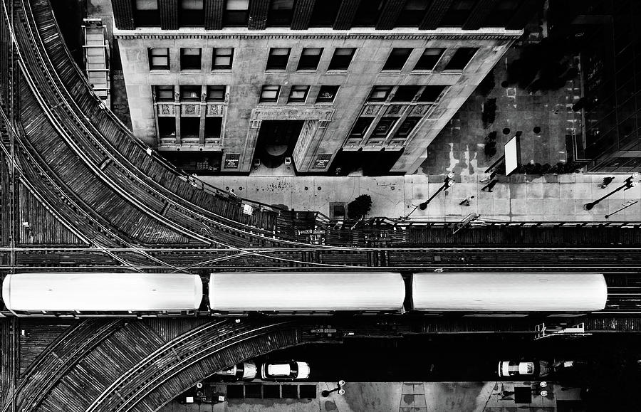 Chicago L Train On Tracks Photograph by Photo By John Crouch
