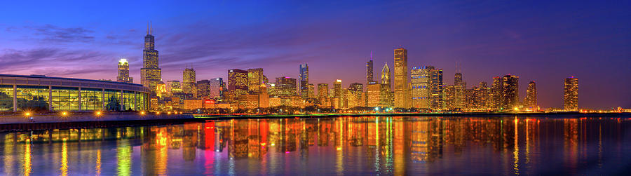 Chicago Lakefront Reflections Alt Photograph