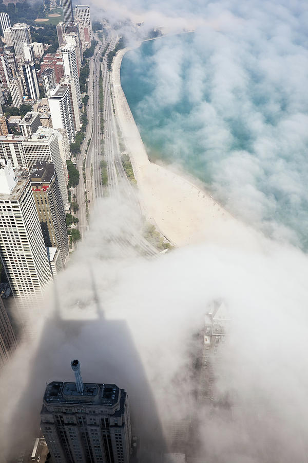 Chicago Lakeshore Through The Fog Photograph by Stevegeer