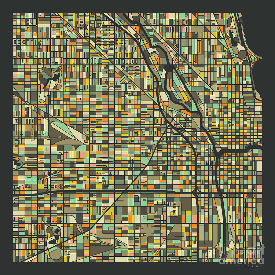 Chicago Photograph - Chicago Map 2 by Jazzberry Blue