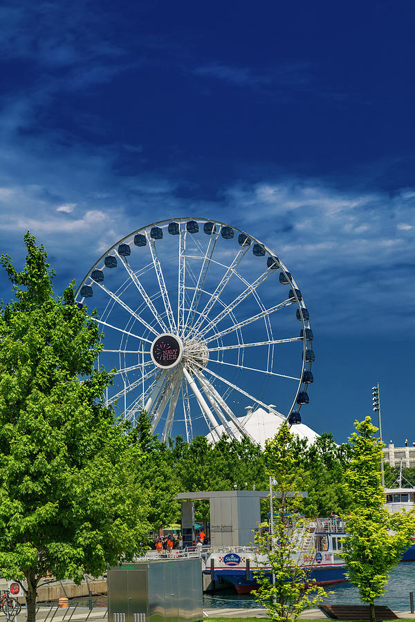 Chicago Photograph - Chicago Navy Pier Brilliant Blue Day by Betsy Knapp