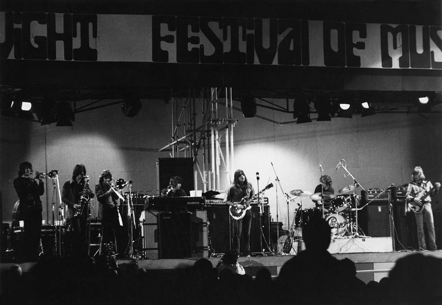Concert Photograph - Chicago Play The Isle Of Wight by Tony Russell