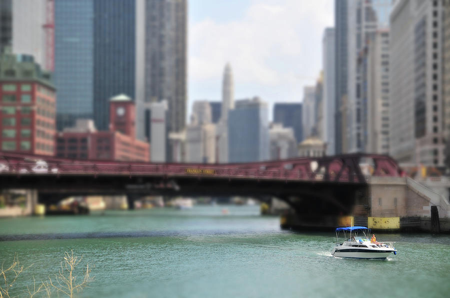 Chicago River Boat Ride Photograph by ~  Jrae  ~
