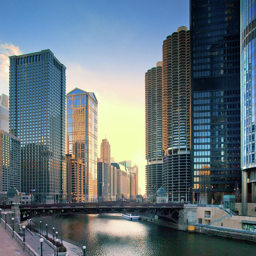 Chicago River Photograph by Photography By Aurimas Adomavicius