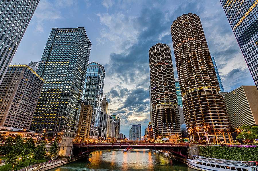 Chicago River Sunset Photograph by Carl Larson Photography