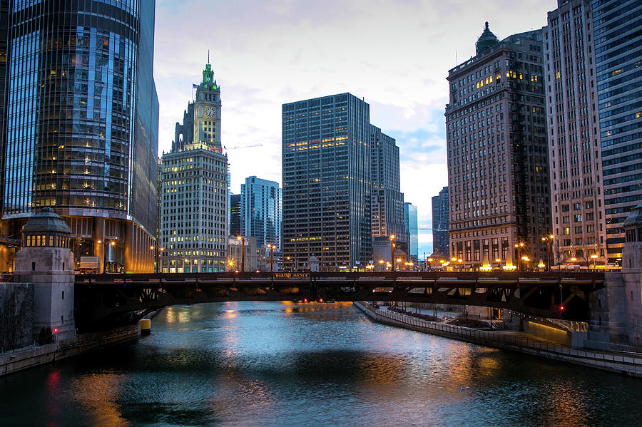 Chicago Shivers Through A Cold Spring Photograph by George Rose