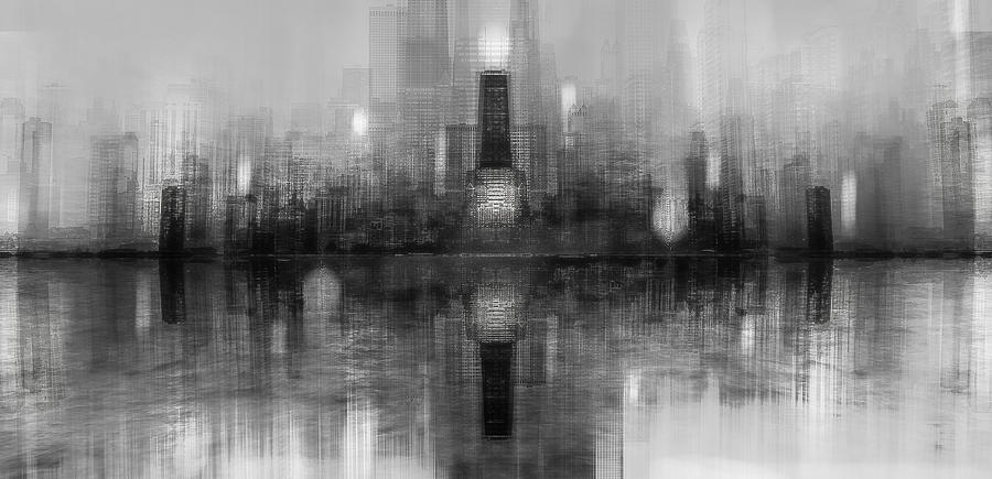 Abstract Photograph - Chicago Skyline by Carmine Chiriacò