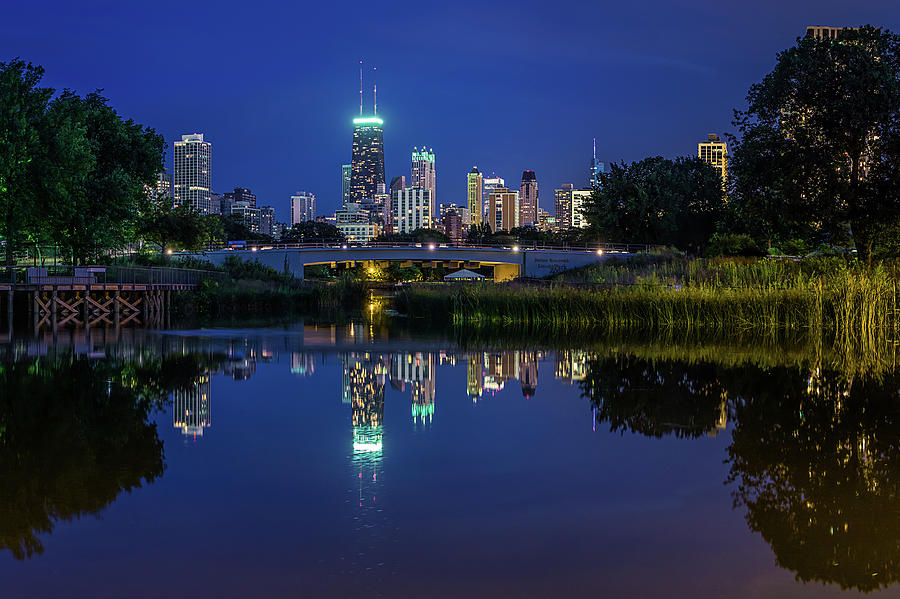 Chicago Skyline From Lincoln Park Photograph by Carl Larson Photography