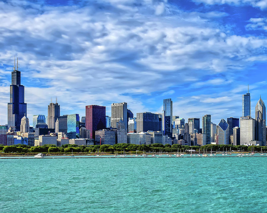 Chicago Skyline by Mitchell R Grosky