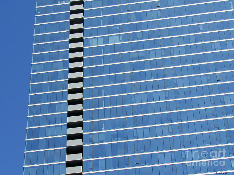 Chicago Striped Building by Roberta Byram