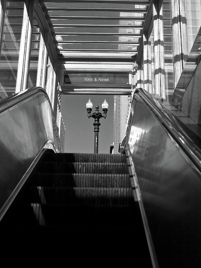Chicago Subway Escalator State and Adams by Keith Dotson