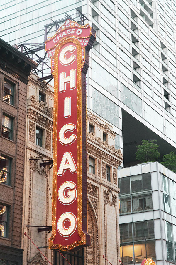 Chicago Theater Sign Photograph