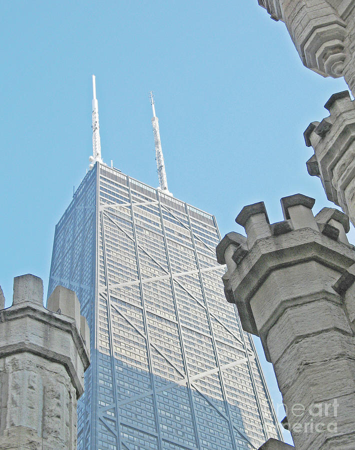 Chicago Towers Old And New Photograph