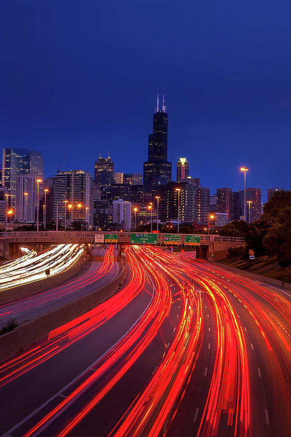 Chicago Traffic Photograph