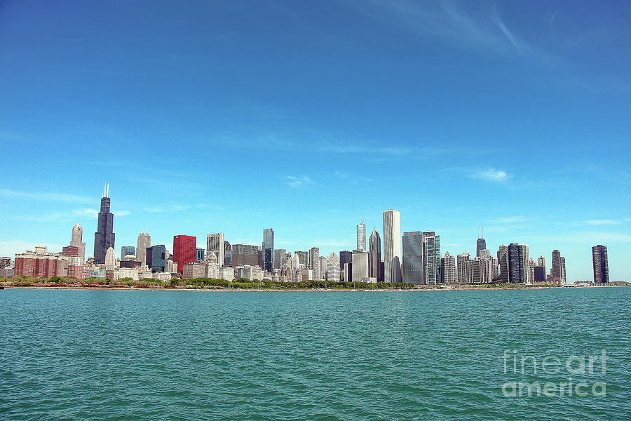 Chicago Photograph - Chicago Urban Skyline View by Eddie Hernandez