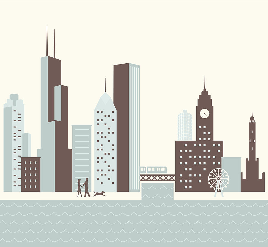 Chicago Walk Digital Art by Hey Darlin