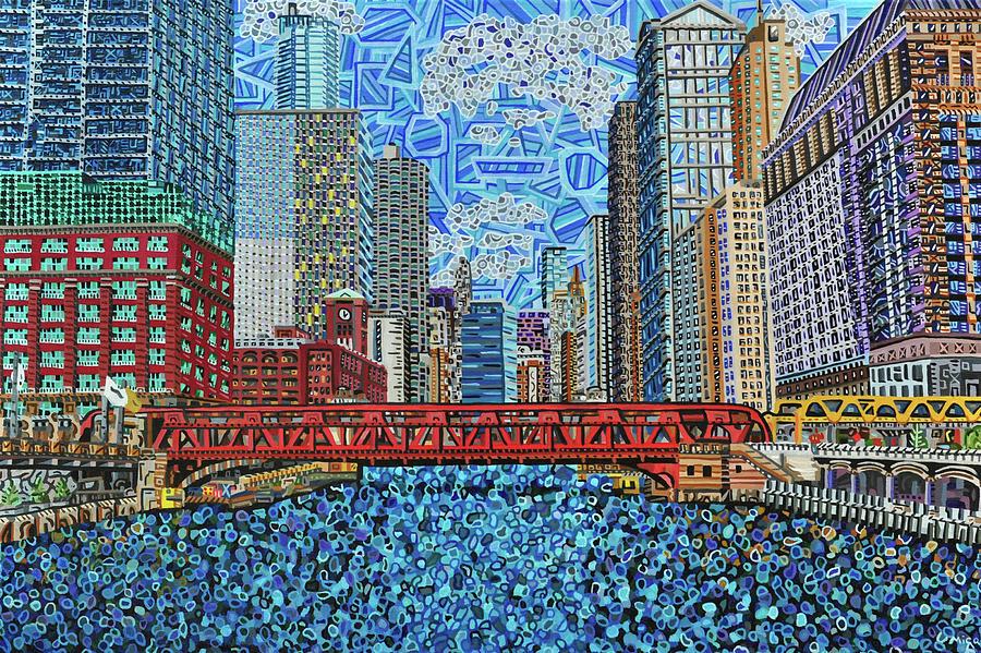 Chicago Wells Street Bridge 2 by Micah Mullen