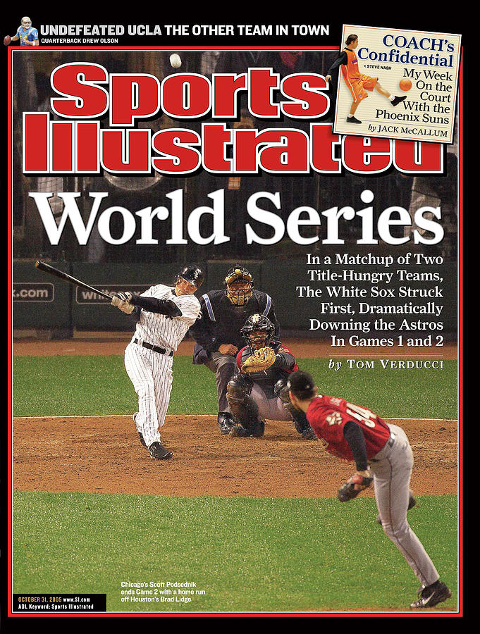 Chicago White Sox Scott Podsednik, 2005 World Series Sports Illustrated Cover Photograph by Sports Illustrated