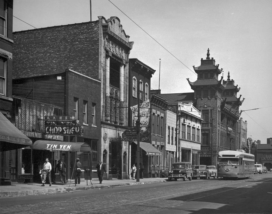 Chicagos Chinatown Photograph by Chicago History Museum