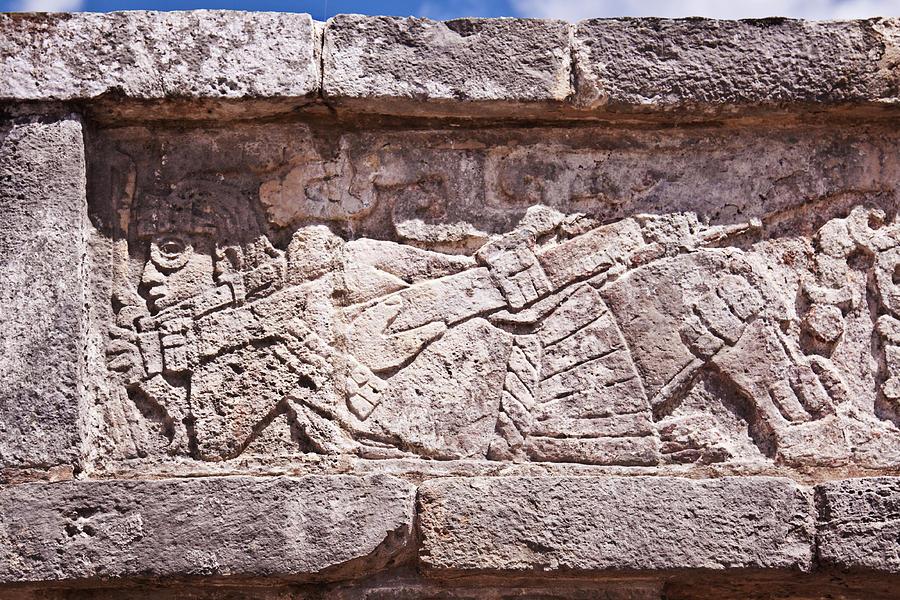 Maya Photograph - Chichen Itza Spaceman by Tatiana Travelways
