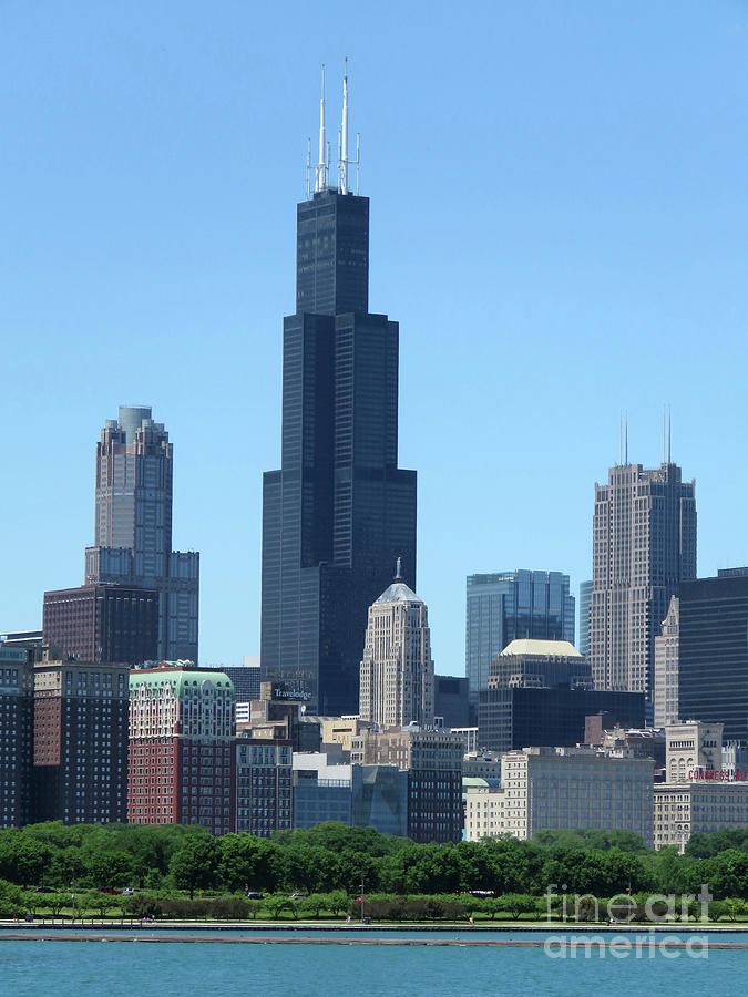 Chicago Photograph - Chicago Skyline by Mary Mikawoz